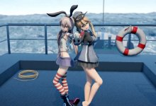 [MMD-R18] Dive To Blue - Prinz Eugen and Shimakaze (+ Pee bonus [おしっこ])